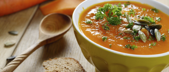 Healthy Holiday Recipes: Roasted Pumpkin-Apple Soup