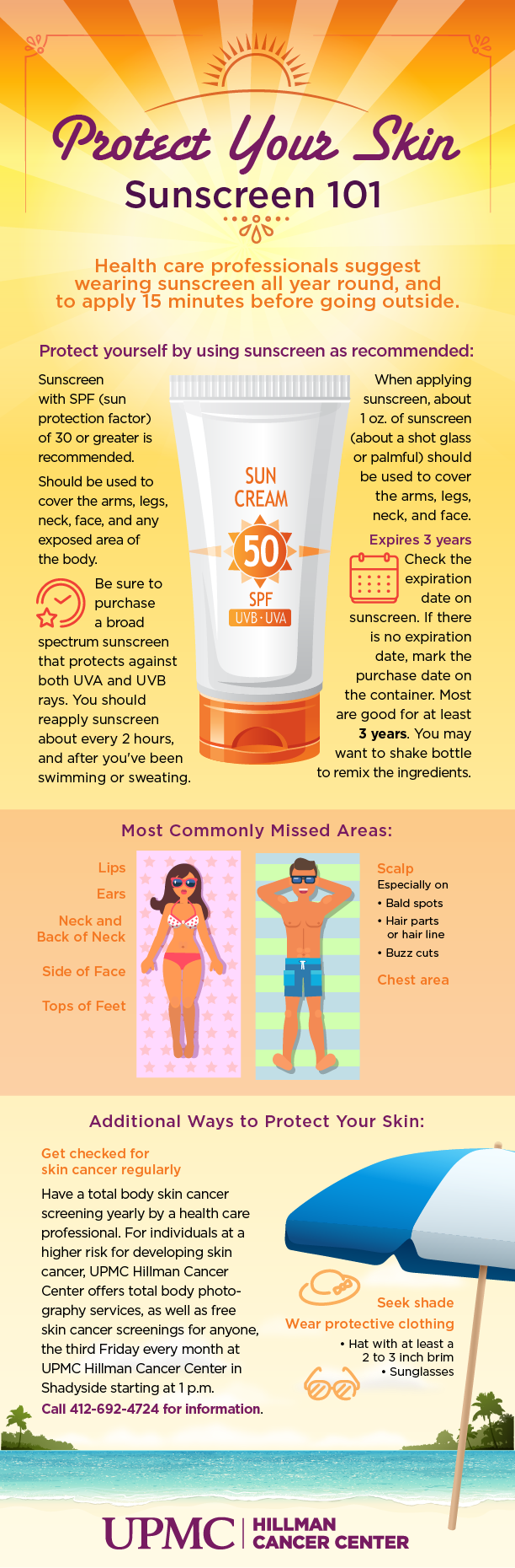 Learn essential facts about sunscreen