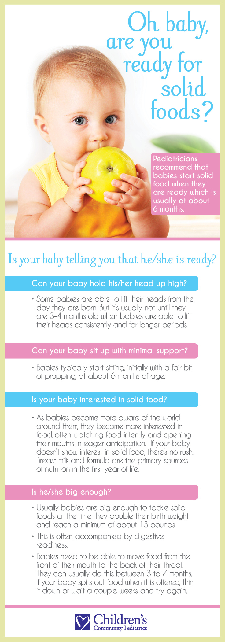 solid food for babies infographic