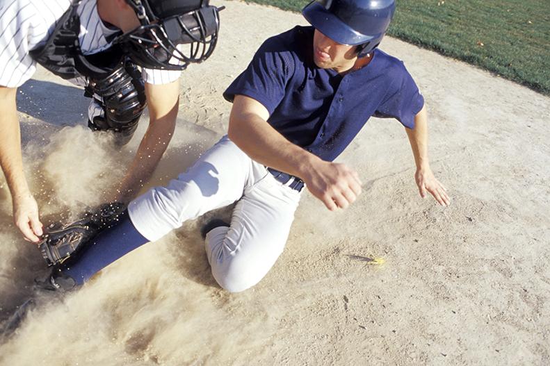 sliding baseball