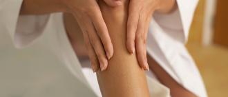 lotion on legs