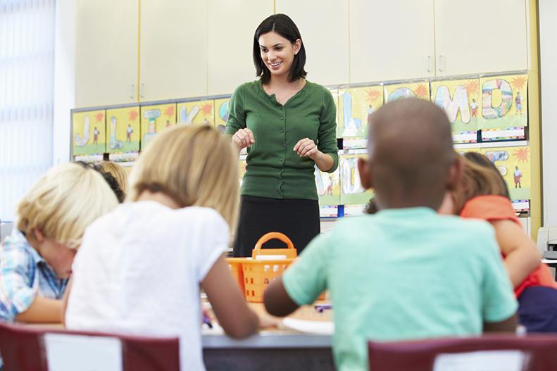 teacher students in classroom