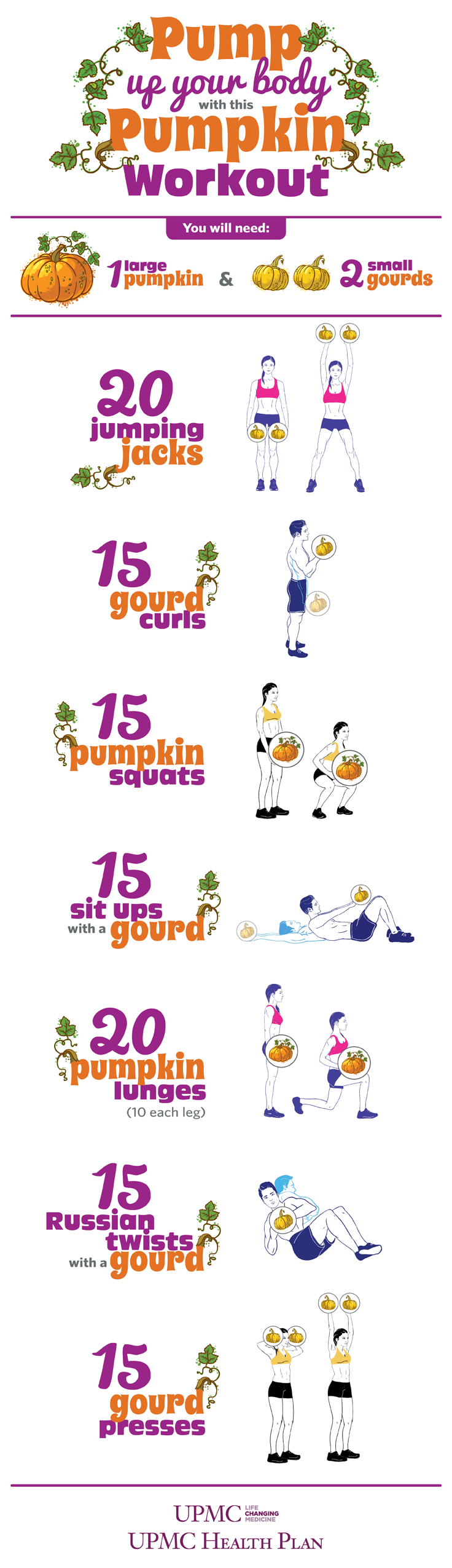 Pump up your body with this pumpkin workout!
