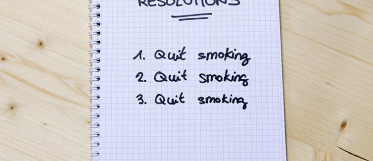 quit smoking new years resolution