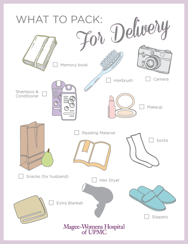 Labor & Delivery Packing Checklist