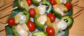 Recipe: Healthy Hawaiian Chicken Kebabs