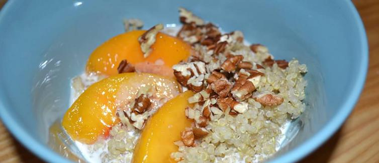 quinoa with peaches