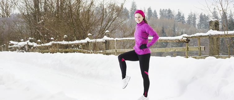jogging in winter
