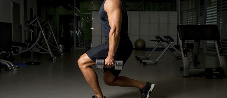 lunges with weights