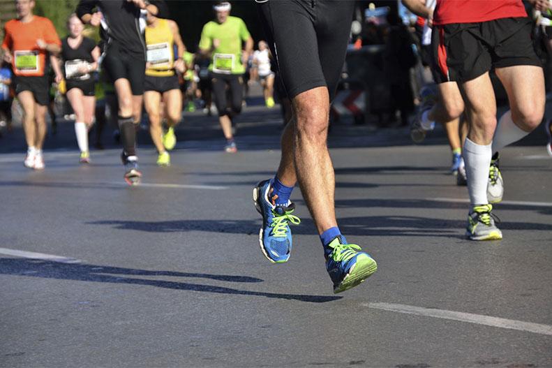 running marathon race