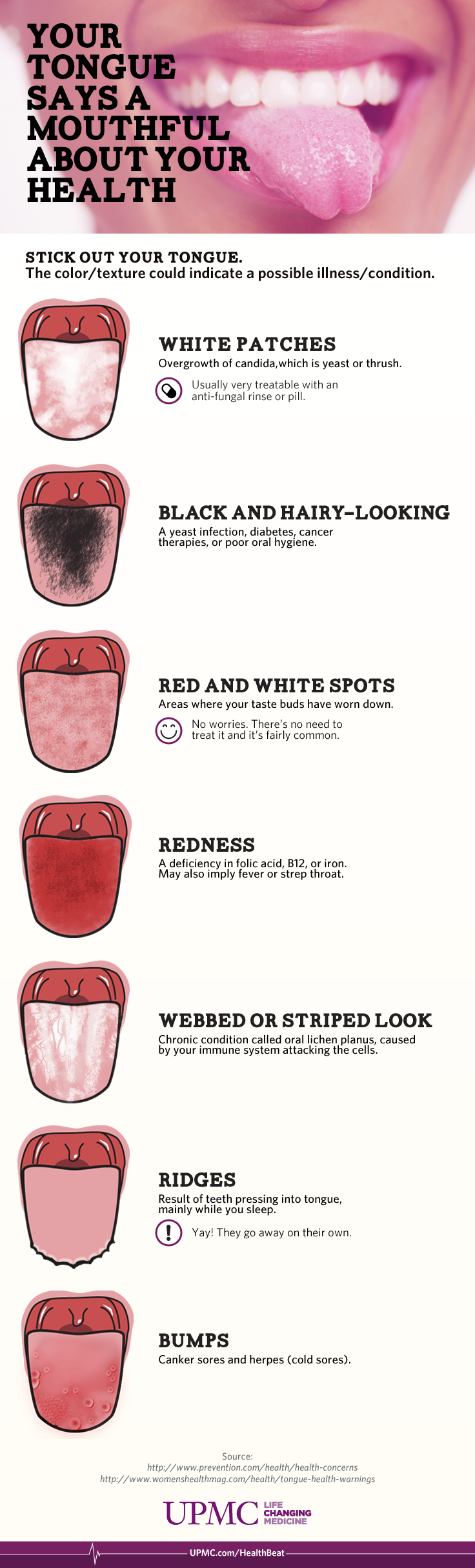What Does Your Tongue Say About Your Health Infographic Upmc