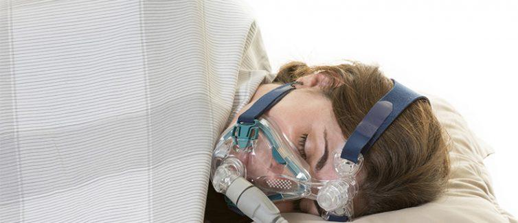 woman with sleep machine