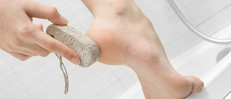 cleaning foot