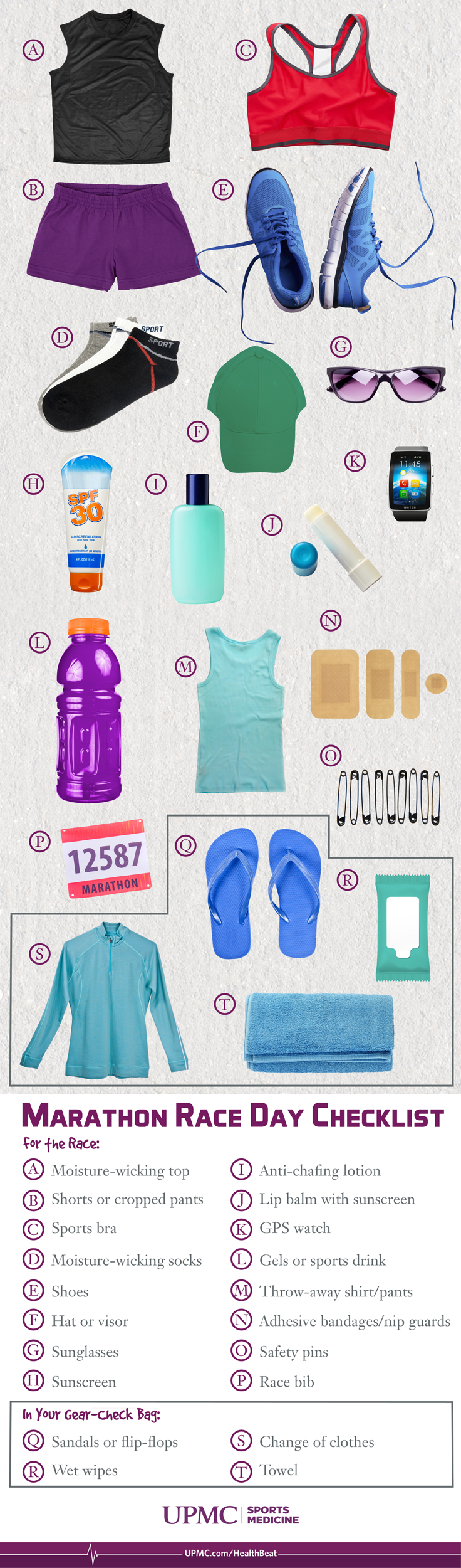 Marathon race day checklist