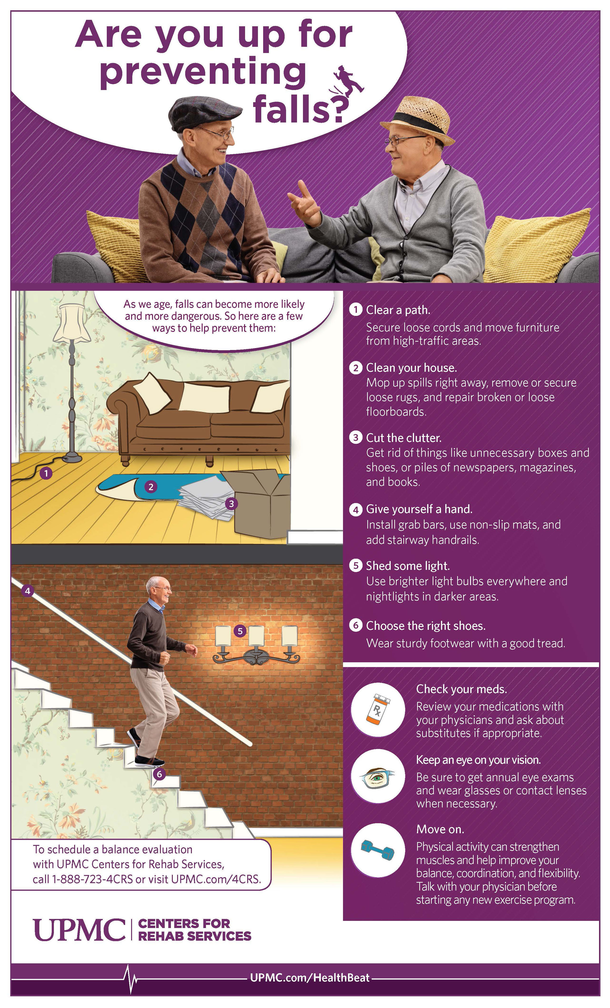 Find ways to keep your balance and prevent falls