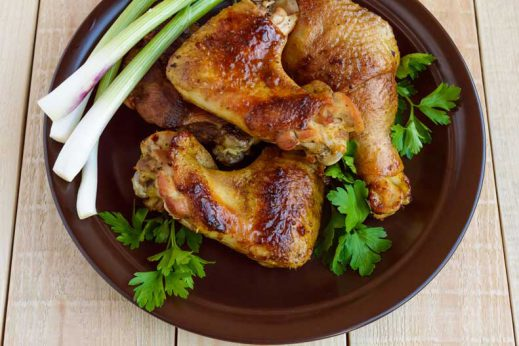 Roasted chicken wings