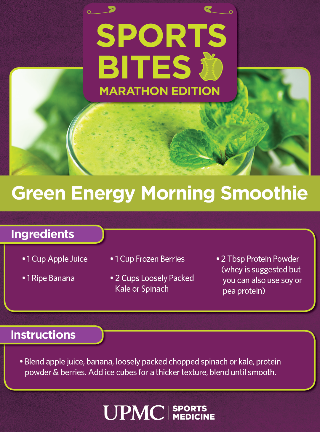 Learn how to make this green energy smoothie recipe