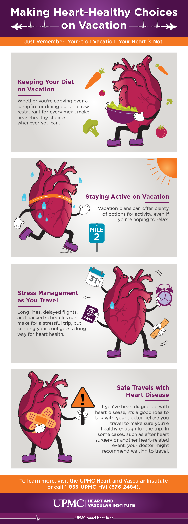 Learn more about staying heart healthy on vacation