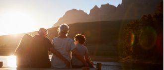 Grandchildren with grandparents
