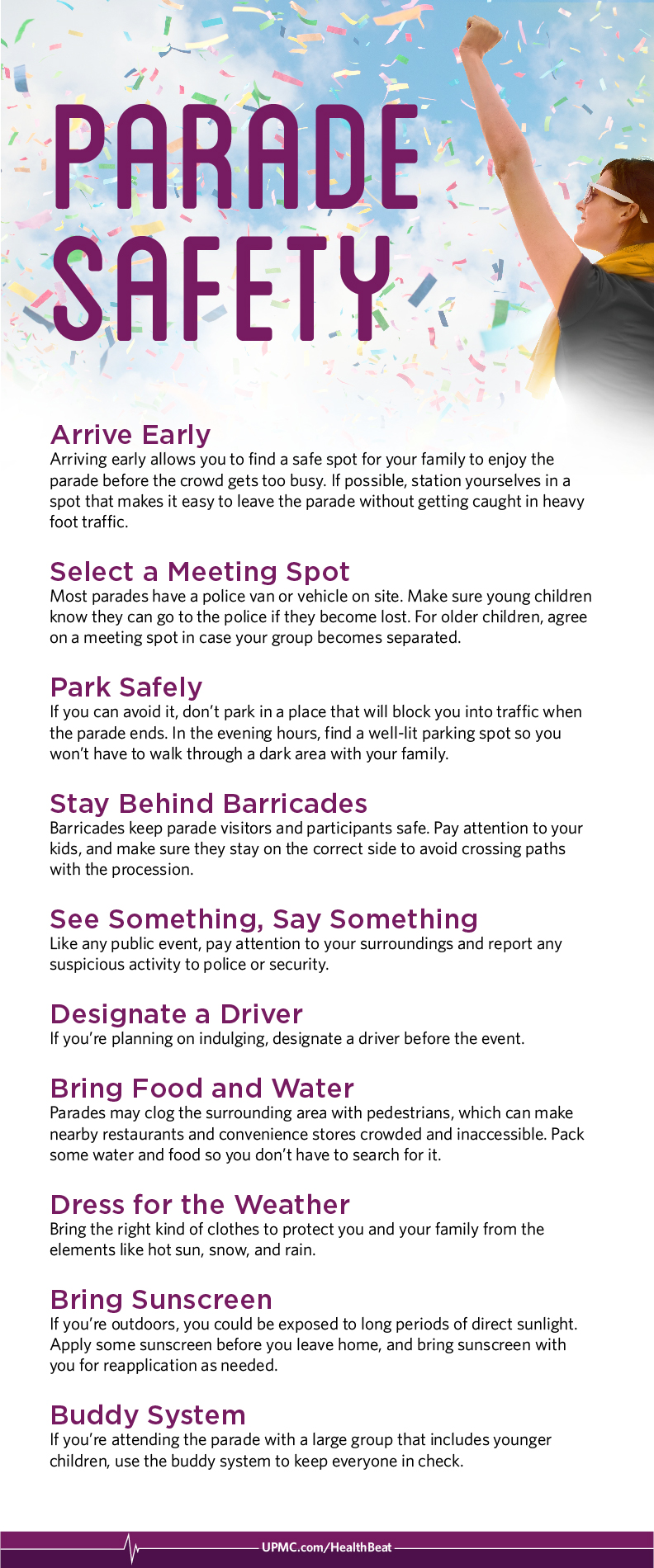 Learn more about parade safety
