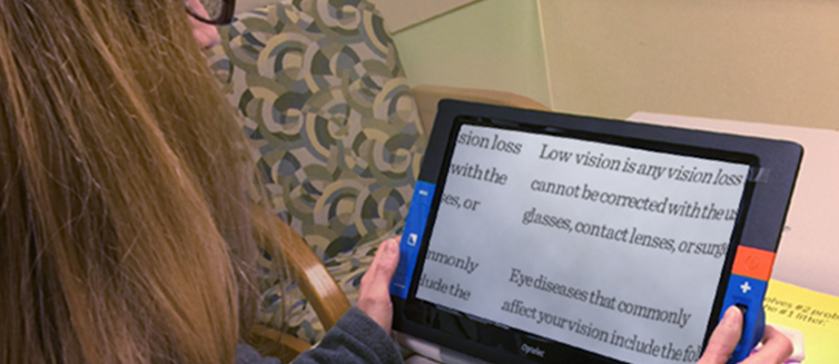 Learn more about how occupational therapy can help people with low vision.