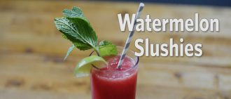 Video: Fresh and Fruity Watermelon Slush Recipe