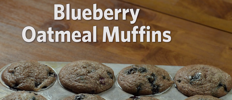 Blueberry Oatmeal Muffins Recipe