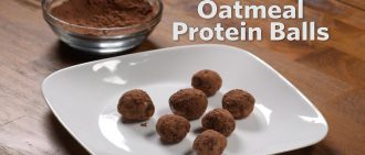 Video recipe: No-bake oatmeal protein balls