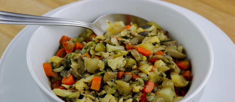 Learn how to make cauliflower stuffing