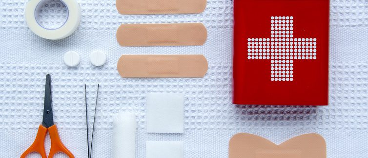 Learn what items you should pack in a first aid kit.