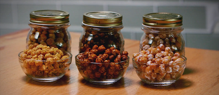 Watch this video to learn how to make healthy crispy chickpeas.