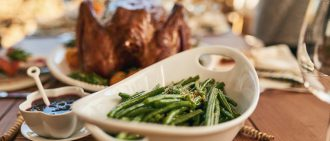 Healthy Thanksgiving Meal with Green Beans