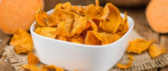 Thanksgiving Leftover Recipe: Sweet Potato Chips with Yogurt Dip