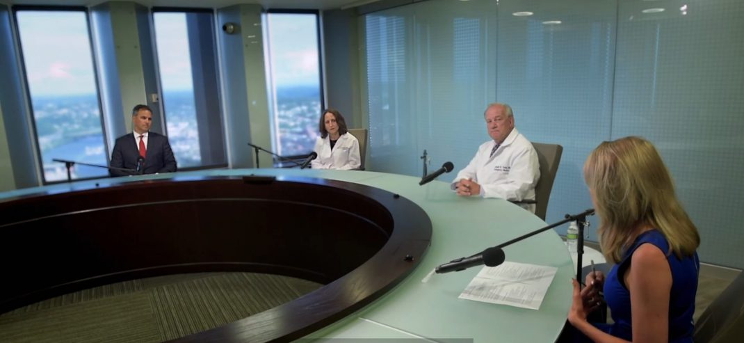 UPMC doctors hold a round table discussion on COVID-19.