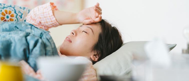 Women feeling sick