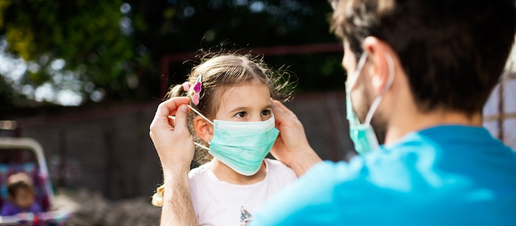 Child Wearing Face Mask